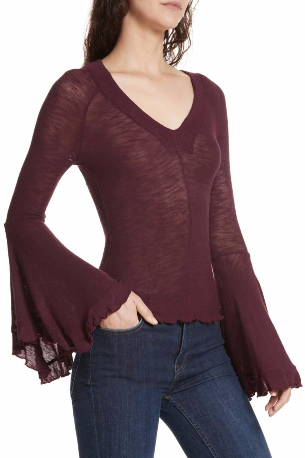 Free People Soo Dramatic Top - Back Cropped Image