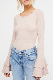 Free People Striped Bell-Sleeve Top - Product Mini Image