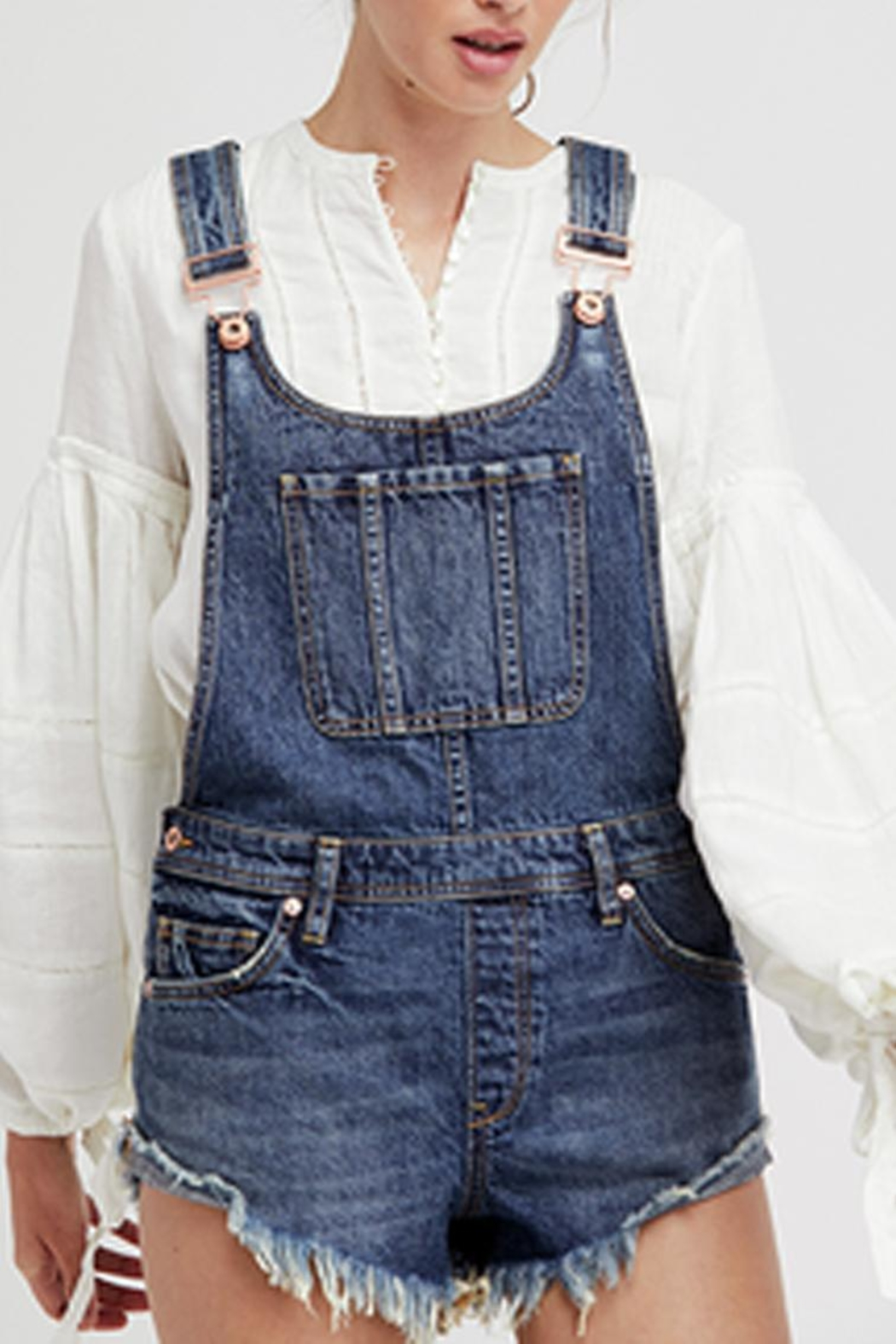 Free People Summer Babe Overall - Front Cropped Image