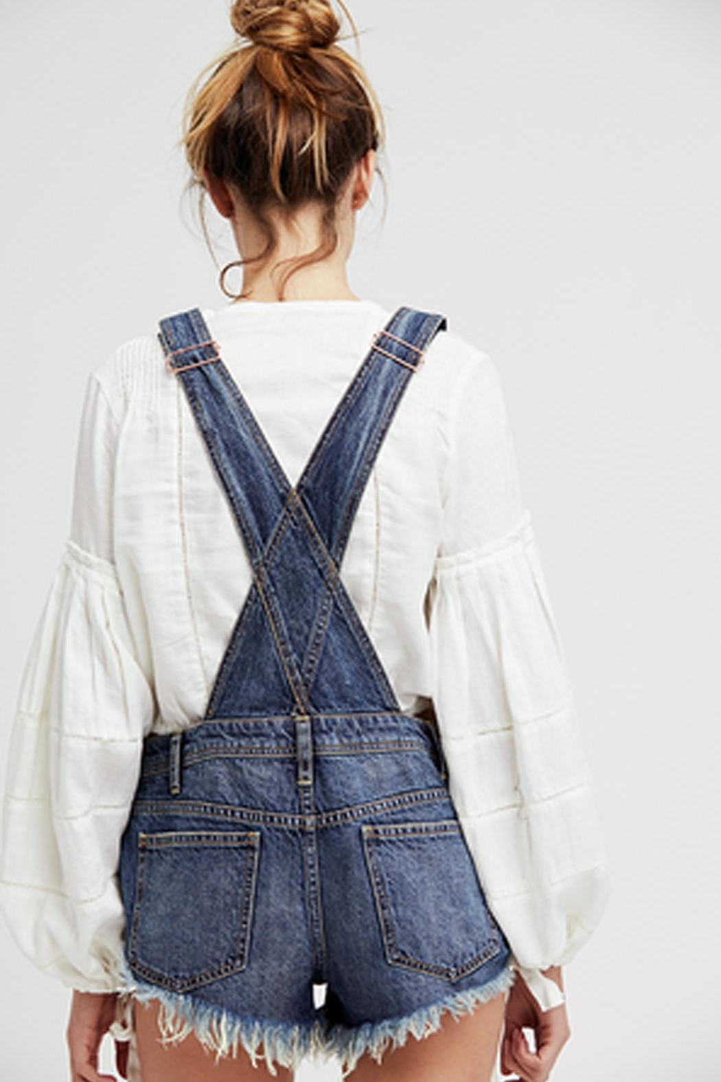 Free People Summer Babe Overall - Front Full Image