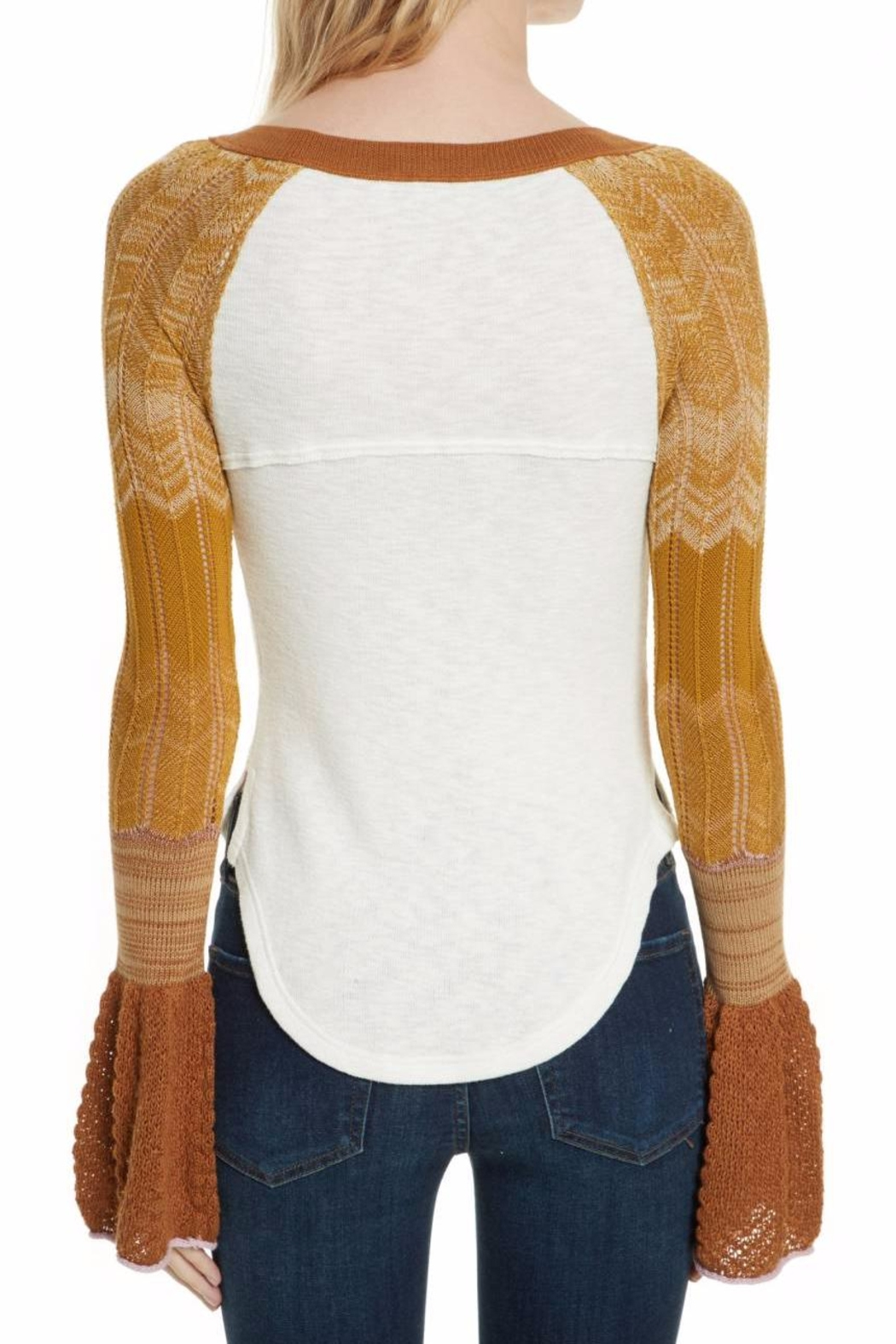 Free People Sunshine Thermal Top - Side Cropped Image