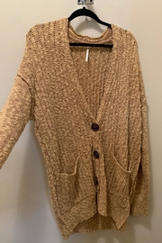 Free People Gold Cardigan - Product Mini Image