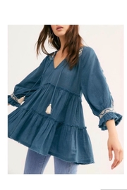 Free People Teal Tunic/dress - Product Mini Image