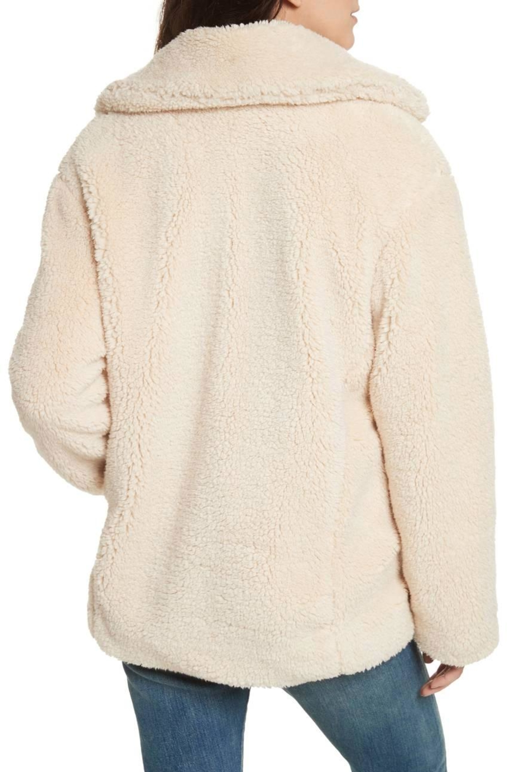 Free People Teddy Peacoat - Side Cropped Image