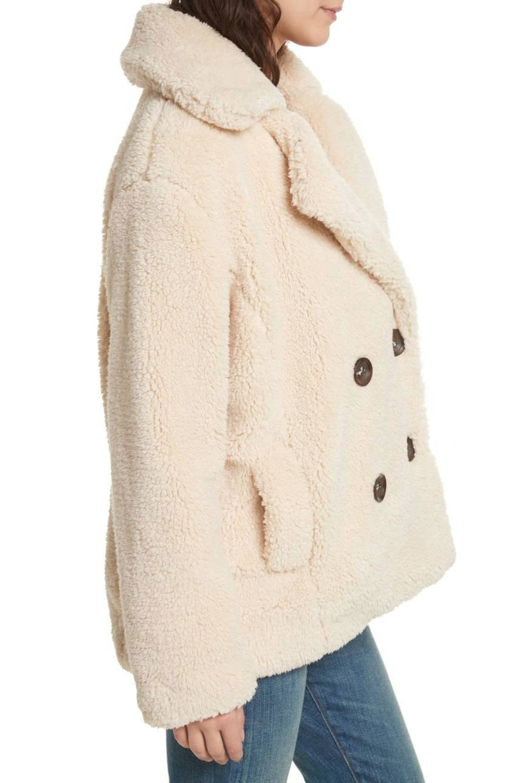 Free People Teddy Peacoat - Front Full Image