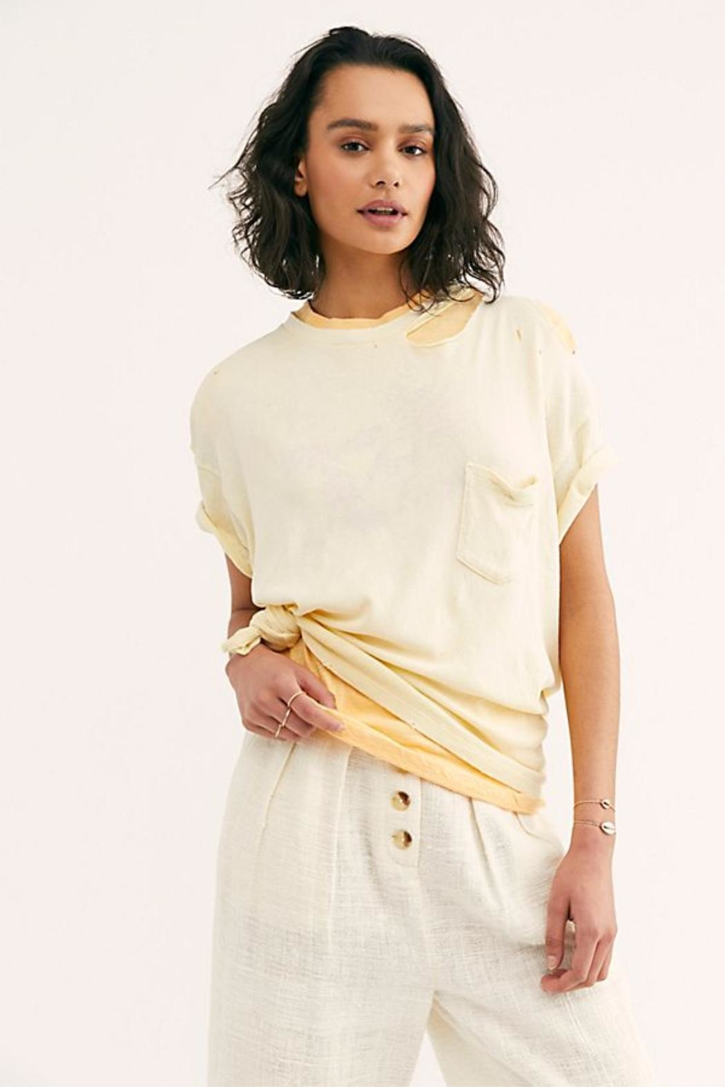 Free People The Lucky Tee - Back Cropped Image