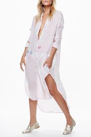 Free People Tie Die Button Down Shirtdress - Product Mini Image