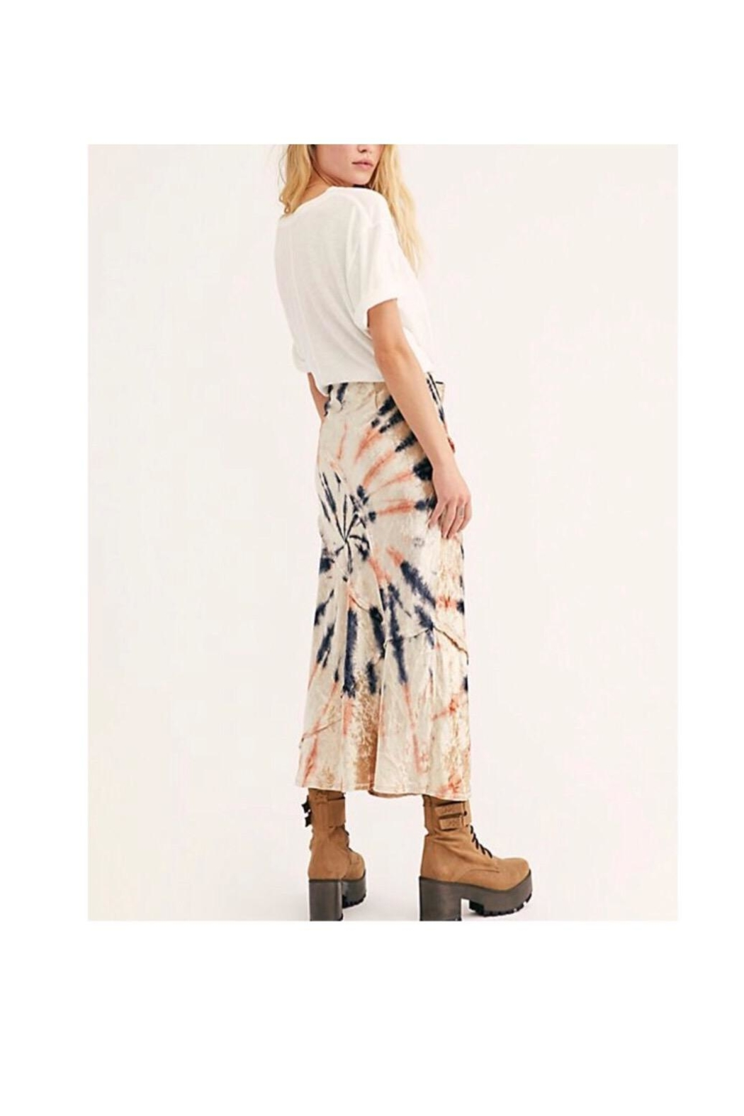 Free People Tie-Dye Maxi Skirt - Front Full Image
