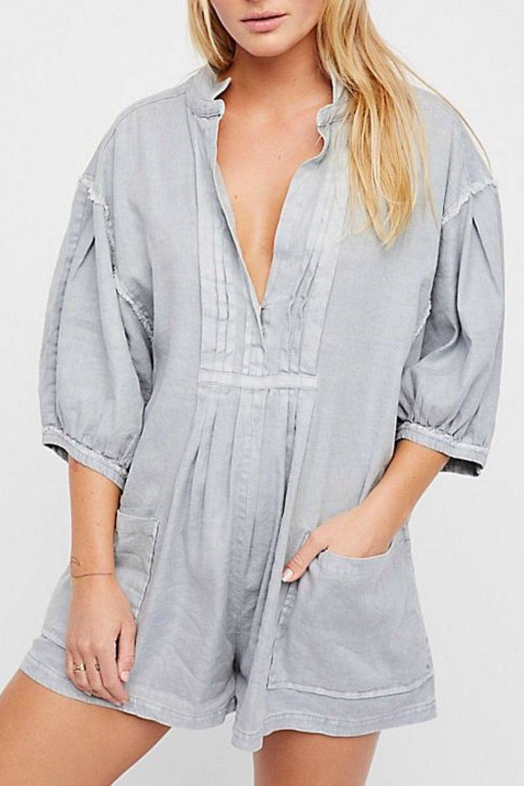 Free People Tomboy Romper - Front Cropped Image