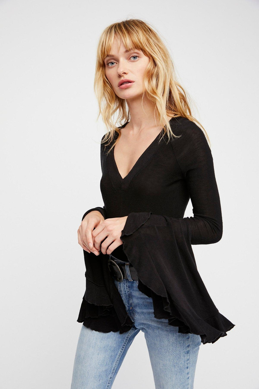 Free People Too Dramatic Top - Front Cropped Image