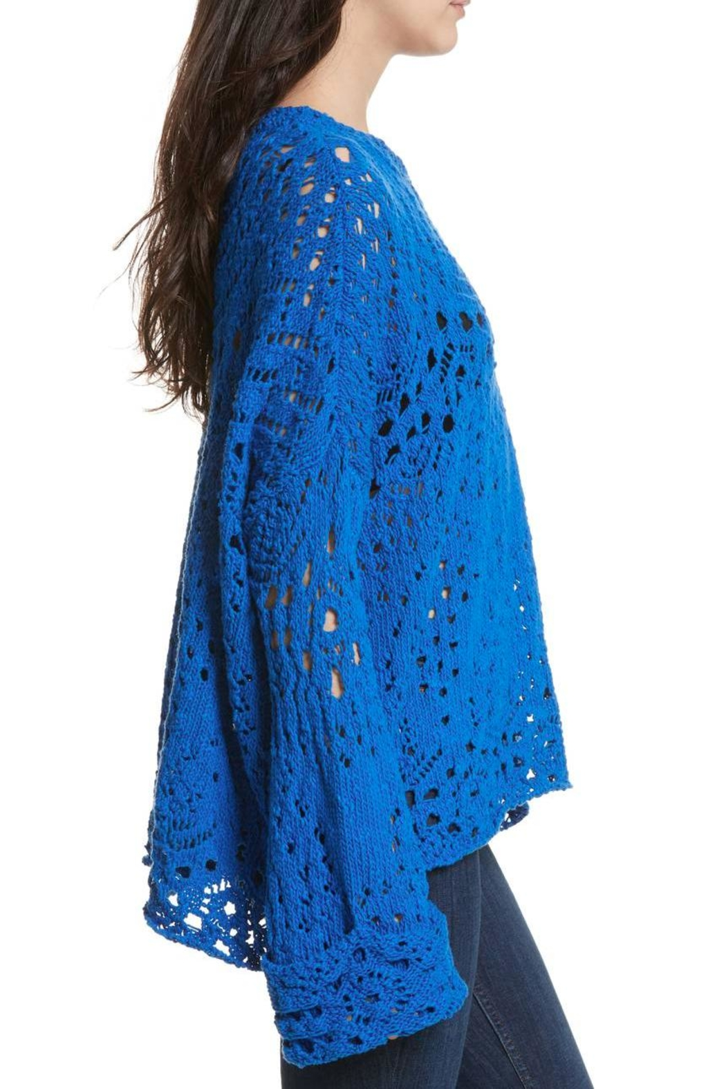 Free People Traveling Lace Sweater - Side Cropped Image