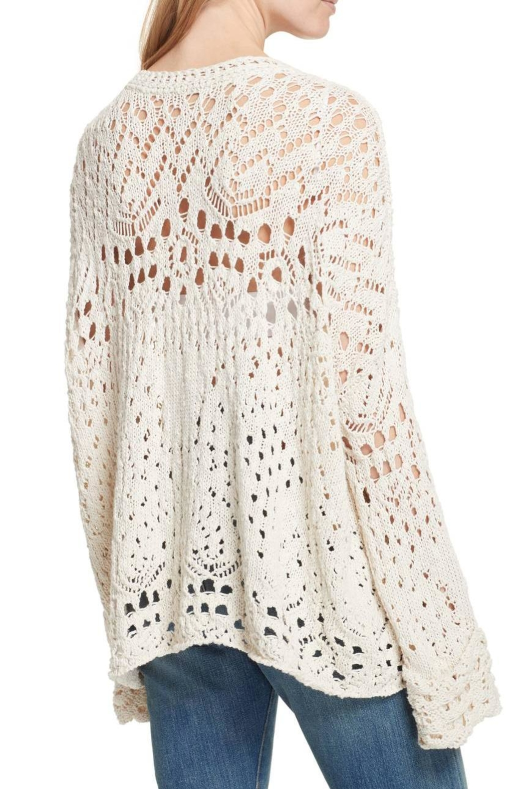Free People Traveling Lace Sweater - Front Full Image