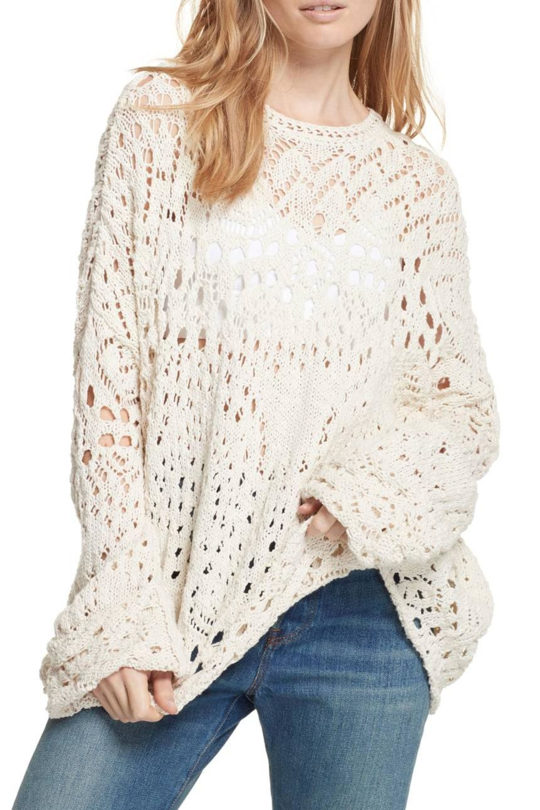 Free People Traveling Lace Sweater - Main Image