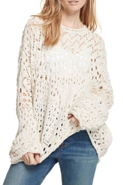 Free People Traveling Lace Sweater - Front cropped