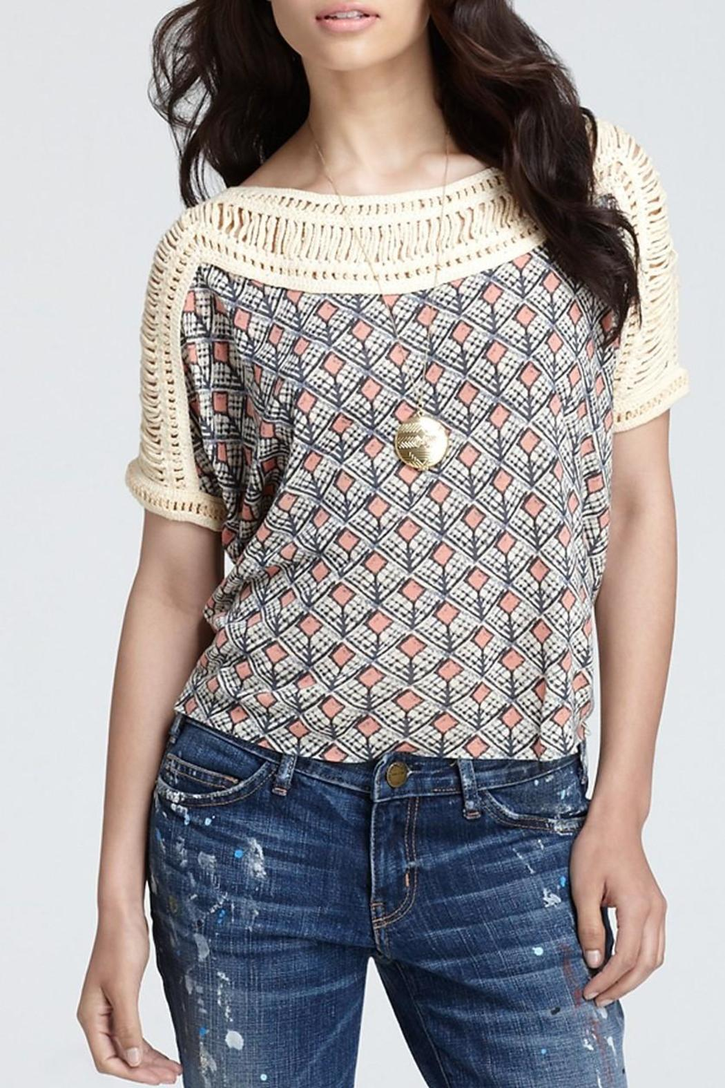 Free People Tribal Grunge Top - Front Cropped Image