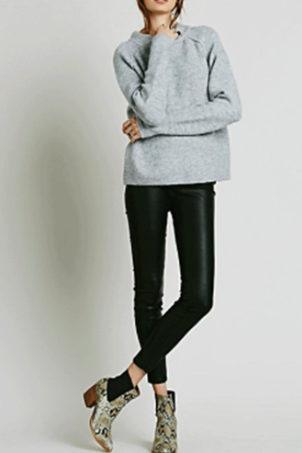 Free People Vegan Leather Leggings - Front Cropped Image