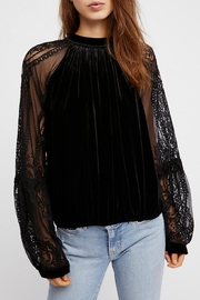 Free People Velvet Lace Top - Product Mini Image