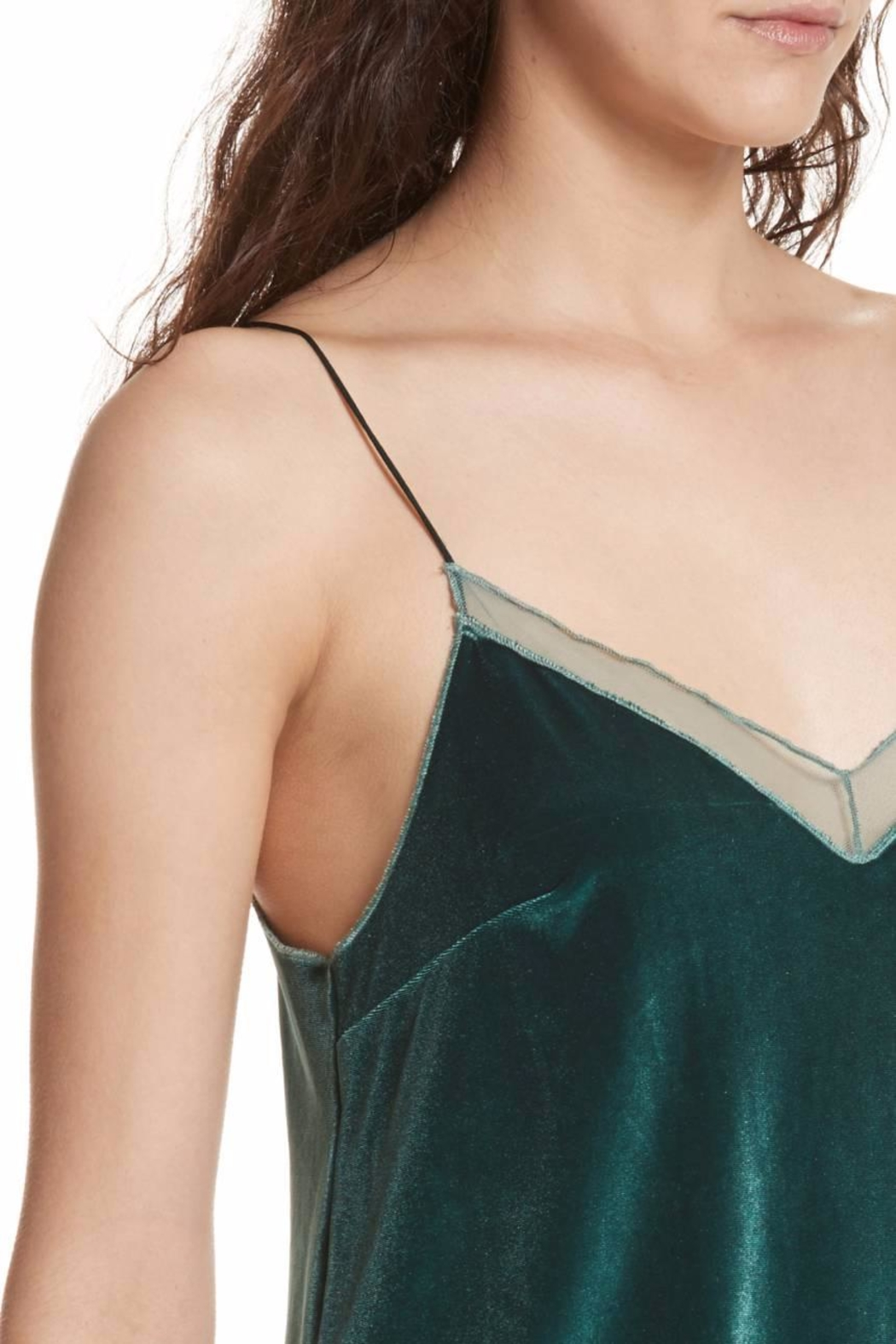 Free People Velvet Tank Top - Back Cropped Image
