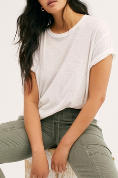 Free People White Clarity_ringer Tee - Product List Image