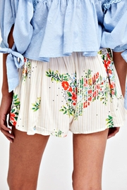 Free People White Floral Skort - Front full body