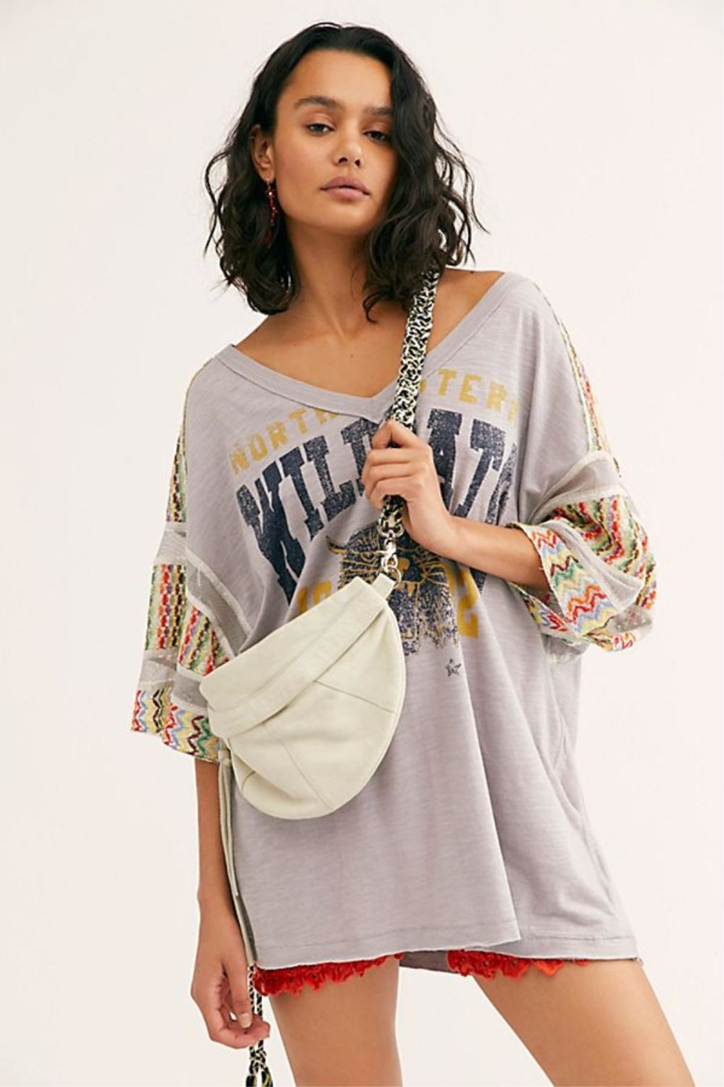 Free People Wildcat Oversized Tee - Main Image