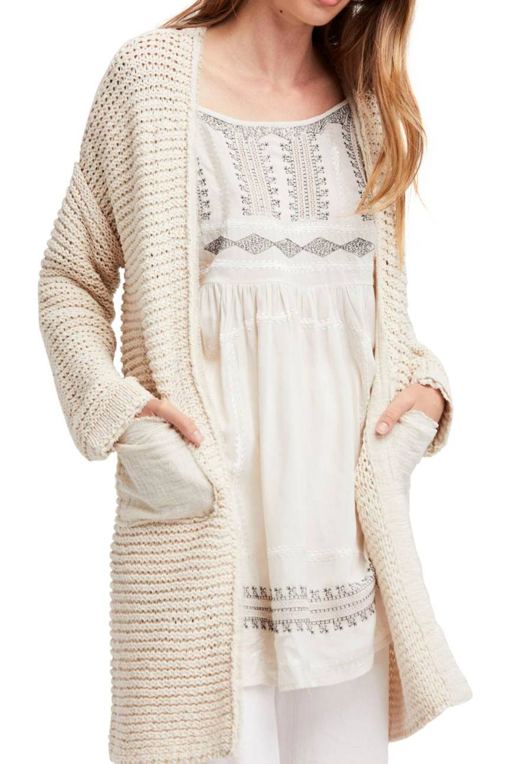 Free People Woodstock Longline Cardigan - Front Cropped Image