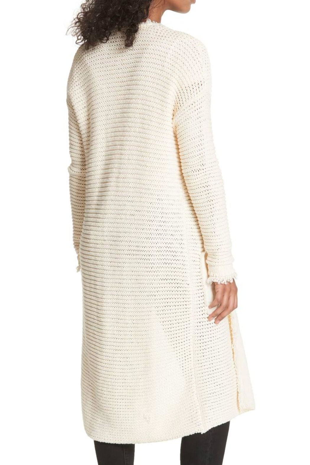 Free People Woodstock Longline Cardigan - Front Full Image