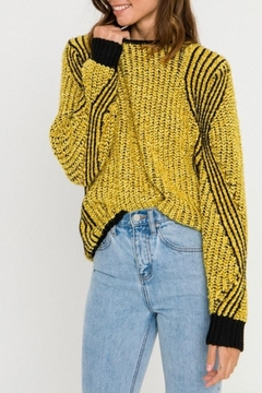 FREE THE ROSES Gold Knit Sweater - Product List Image