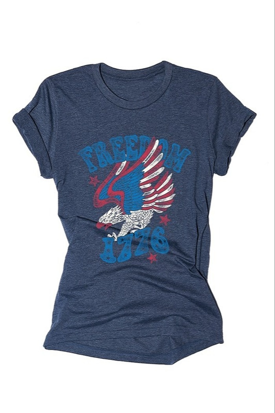 BELLA II CLOSET Freedom Tee Shirt - Front Cropped Image