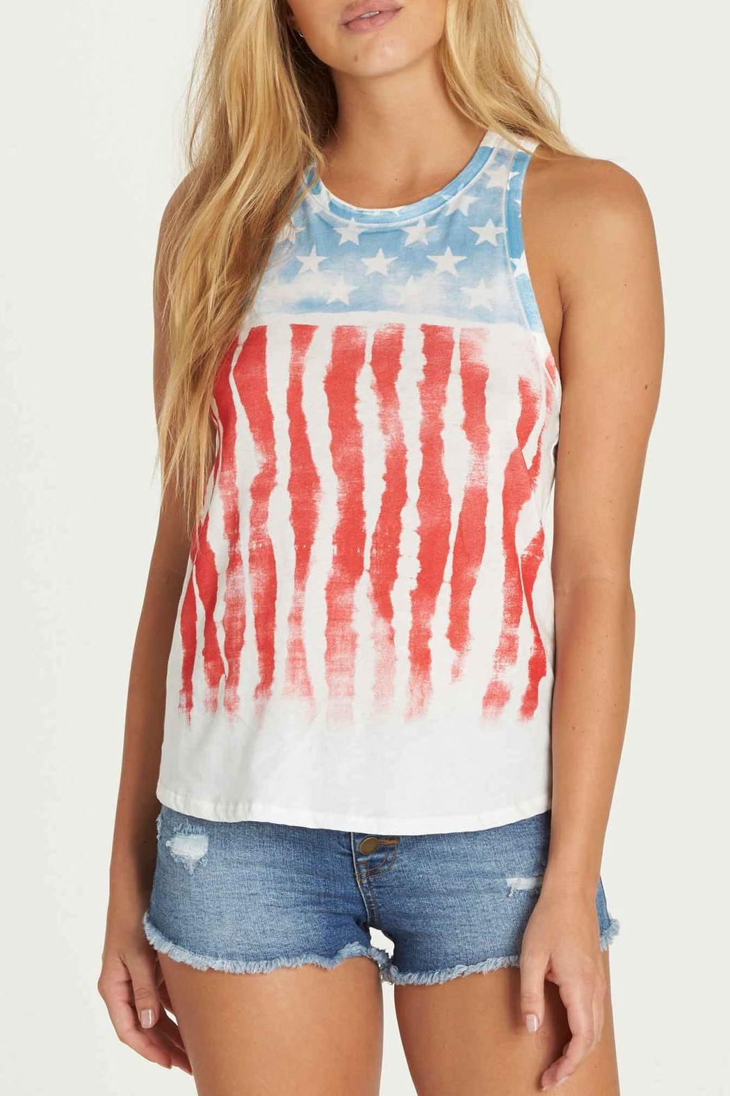 Billabong Freedom Tiedye Tank - Front Cropped Image