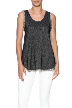 Shoptiques Product: Grey Fringe Tank