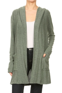 Shoptiques Product: Jersey Hoodie Cardigan