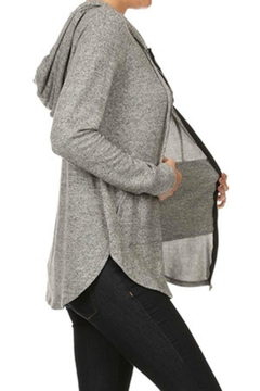 Shoptiques Product: Soft Zip Hoodie-Tunic