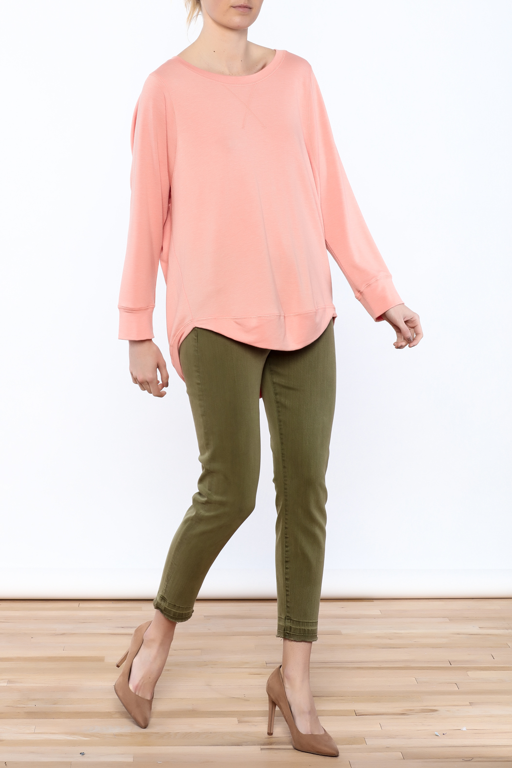 Peach Long Sleeve Sweatshirt