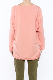 Shoptiques Product: Peach Long Sleeve Sweatshirt - Back cropped