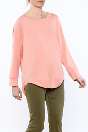 Shoptiques Product: Peach Long Sleeve Sweatshirt - Front cropped