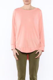 Shoptiques Product: Peach Long Sleeve Sweatshirt - Side cropped