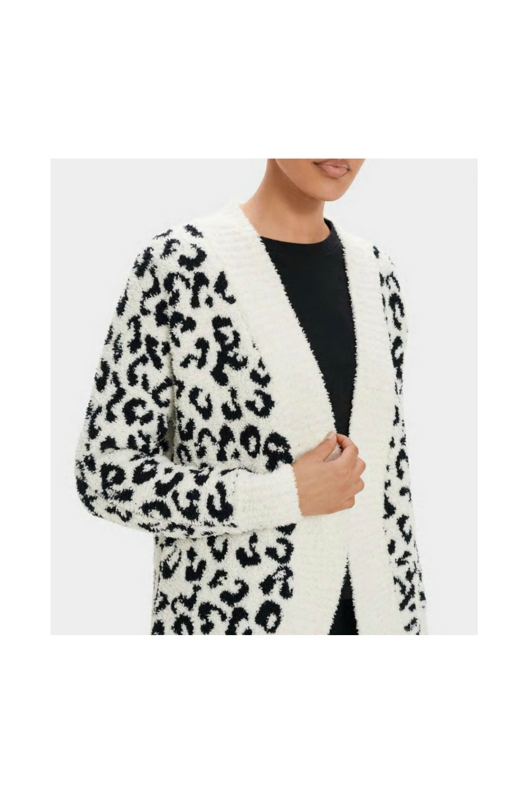 Ugg FREEMONT FLUFFY KNIT CARDIGAN - Side Cropped Image
