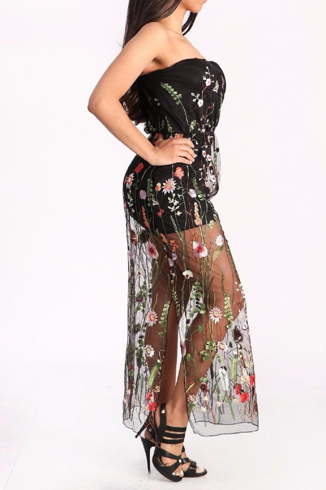 Freesia Sheer Floral Maxi - Front Full Image