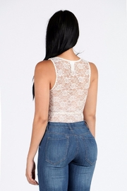 Freesia Sheer Lace Bodysuit - Front full body