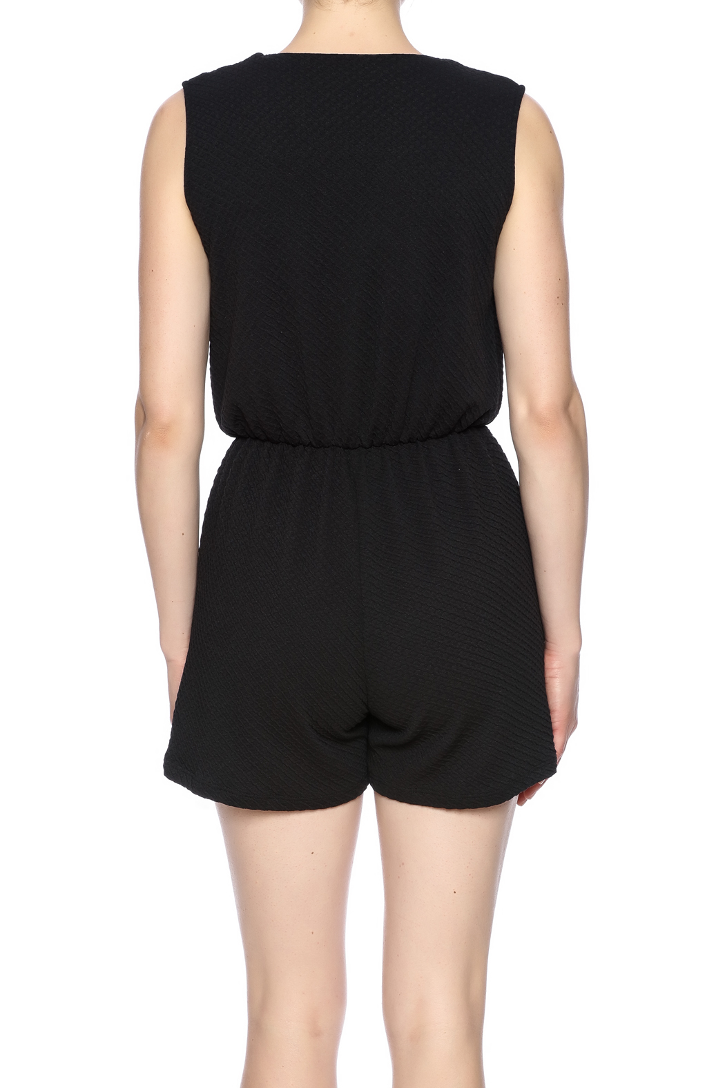 Freeway Black Romper - Back Cropped Image