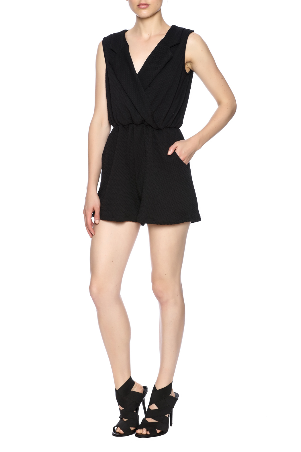 Freeway Black Romper - Front Full Image