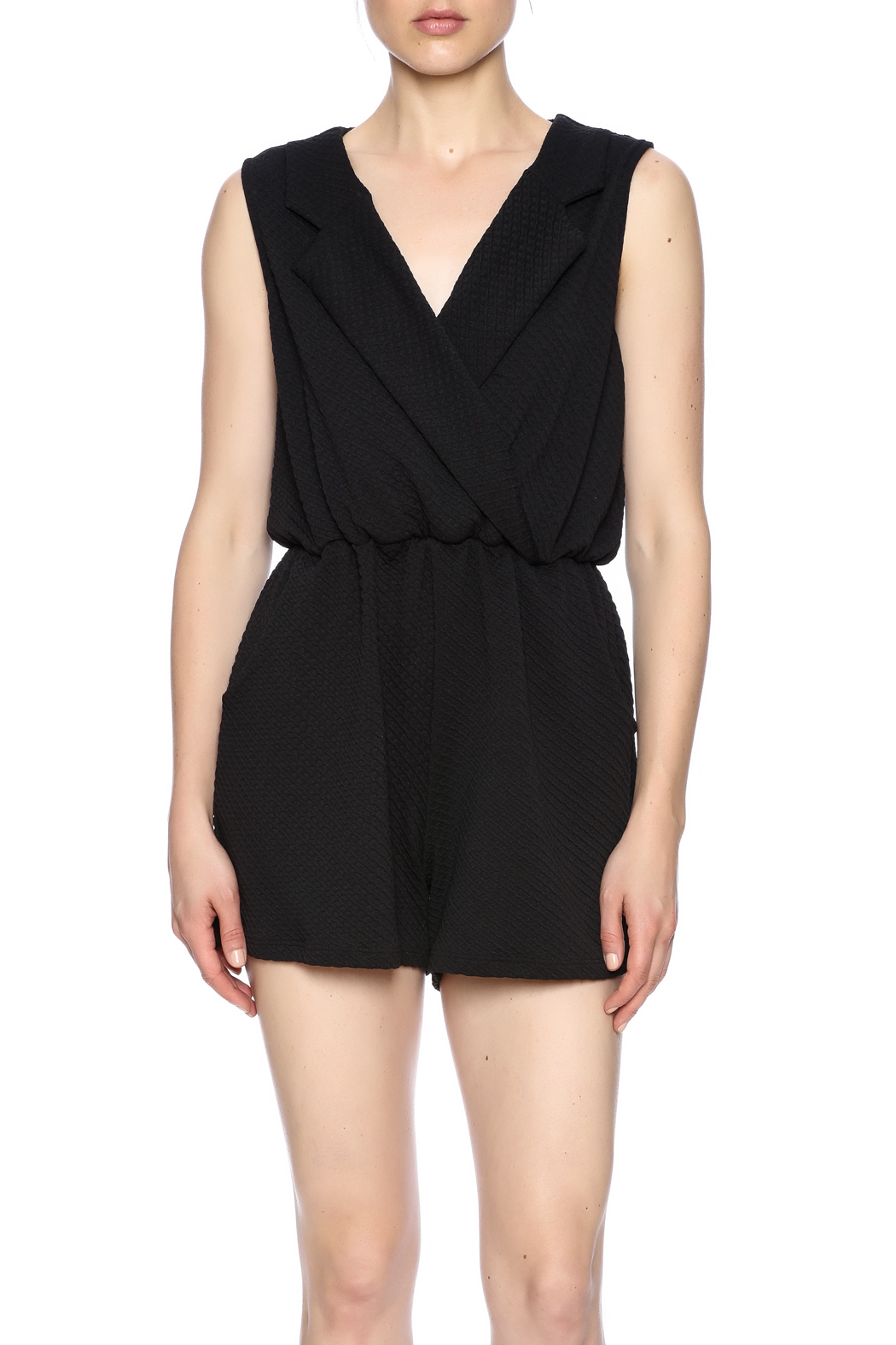 Freeway Black Romper - Side Cropped Image