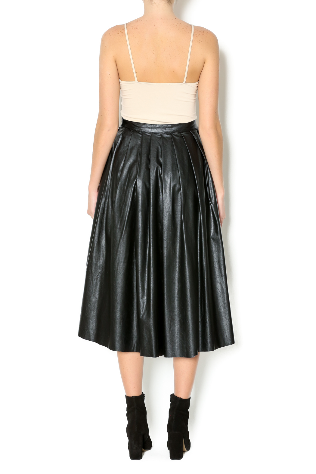 Freeway Faux Leather Skirt - Side Cropped Image
