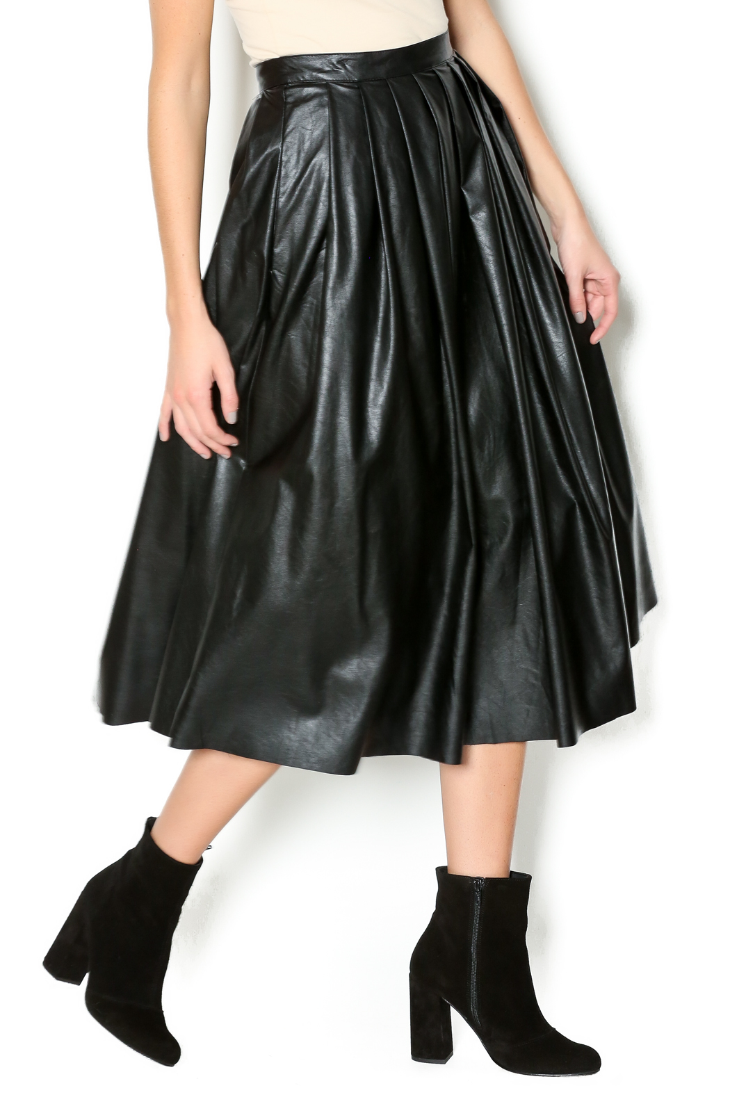 Freeway Faux Leather Skirt - Main Image