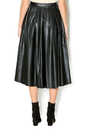 Freeway Faux Leather Skirt - Back cropped