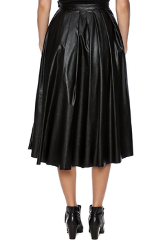 Shoptiques Product:  Vegan Leather Midi Skirt