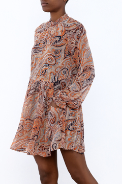 Shoptiques Product: Paisley Mock Neck Dress