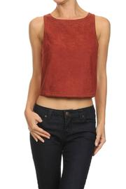 Freeway Suede Stitching Top - Product Mini Image