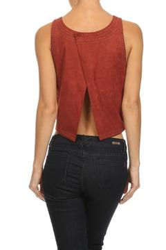 Shoptiques Product: Suede Stitching Top